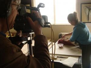 Dreharbeiten Studio