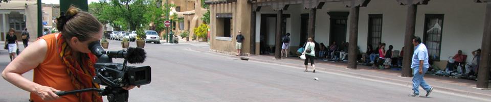 Dreharbeiten in Santa Fe, New Mexico