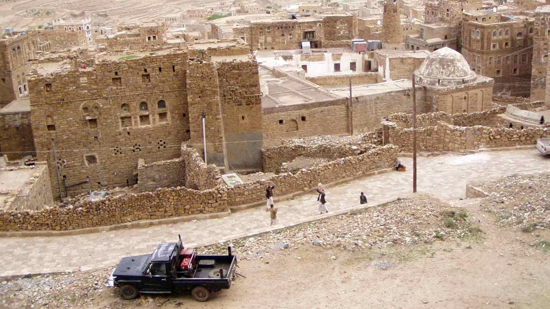 Blick auf das Dorf Thujlla im Jemen